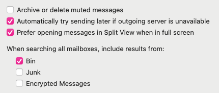 Figure II: Apple Mail's native checkboxes