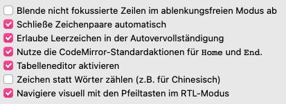 Figure I: Custom CSS checkboxes in Zettlr 2.0